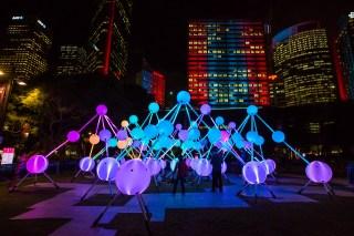 Vivid Sydney 2015 : Affinity First Fleet Park Sydney
