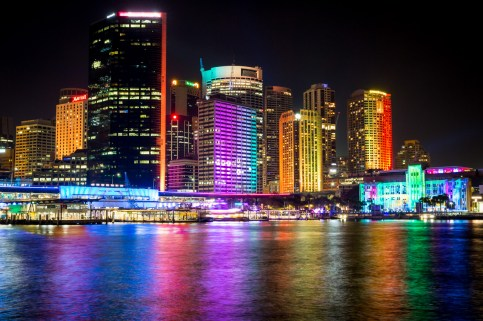 Vivid Sydney 2015 : Paint the Town East Circular Quay Sydney