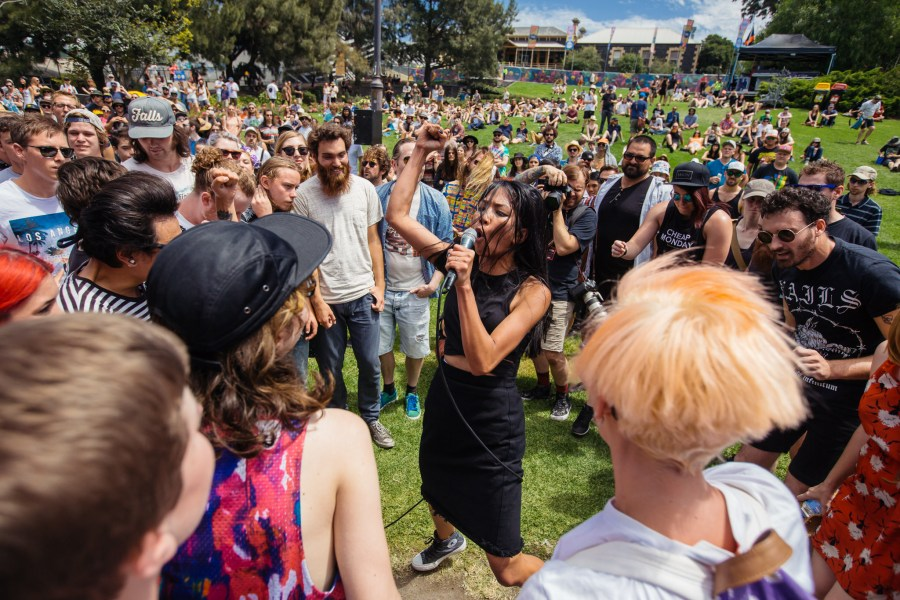 : High Tension - Melbourne Laneway Festival 2016 Footscray Melbourne