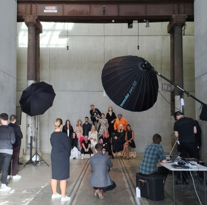 Behind-the-scenes. Pic courtesy of Flaunter