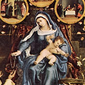 Madonna of the Rosary, Lorenzo Lotto