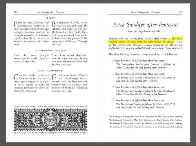 209 Sundays after Pentecost