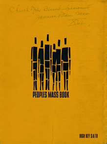 4673 PEOPLES MASS BOOK 1964