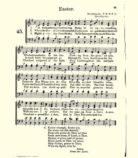 80522 MENDELSSOHN 1910 HARK THE HERALD - Ad Regias - 1910 Saint Mark Hymnal copy