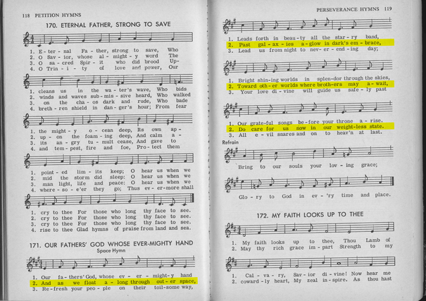 "88989 Roman Catholic ""Outer Space Hymn"" 1966"
