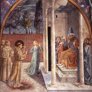 St Francis and the Sultan by Gozzoli