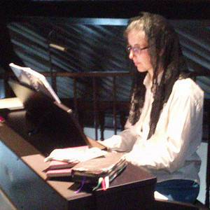 Veronica at the keyboard