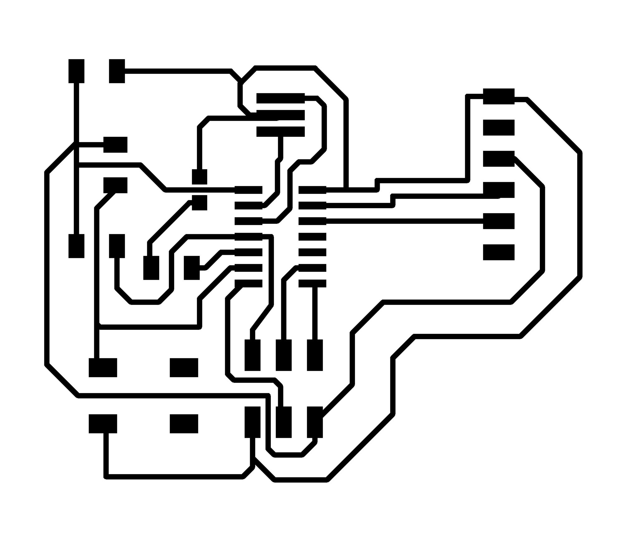 Circuit Board Outline Human Head With Circuit Board