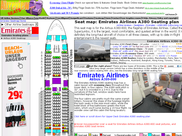 Emirates A380 Seating Plan Seat Pictures Ek A388 Chart Airbus 800 Map