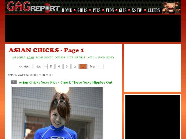 Screenshot Of Www Gagreport Com Pics Girls Asian Asian