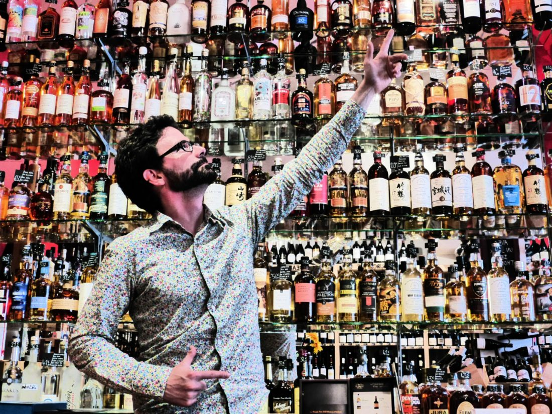 Un large choix de whiskies en provenance du monde entier