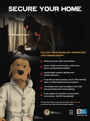 Burglary Poster National Crime Prevention Council