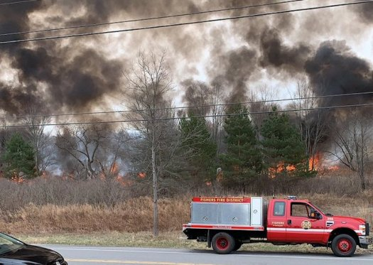 State Police, NYS DEC investigating 'significant' brush fire in Ontario County