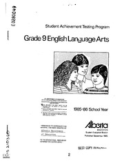English Language Arts Released Test Questions Grade 9 ...