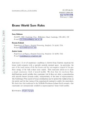 Brane World Sum Rules : Gary Gibbons : Free Download ...