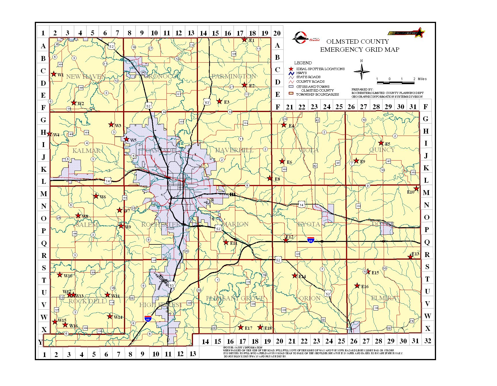 Emergency Management Grid Maps