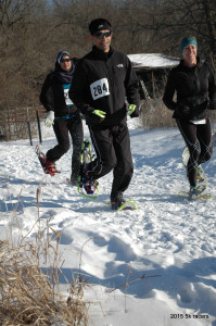 This Fast 5 Km trio enjoyed a new creative course at Winteriffic