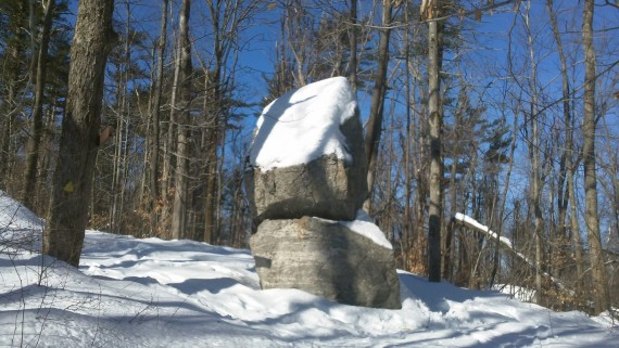 boulders at Balance Rock Trail, Mount Wachusett, MA