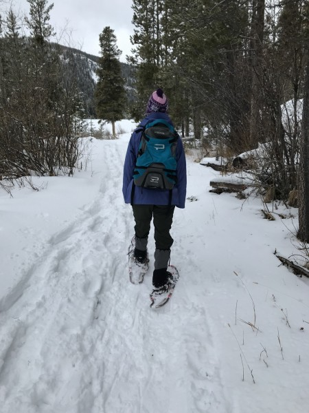 snowshoeing on Monarch Lake Trail, Grand Lake