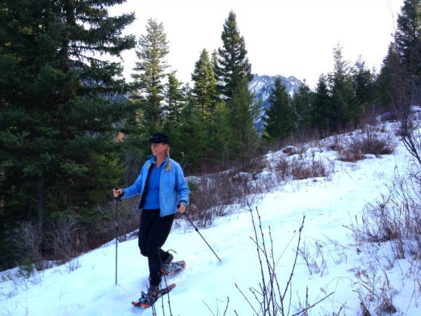 Paradise Valley is paradise for snowshoeing.