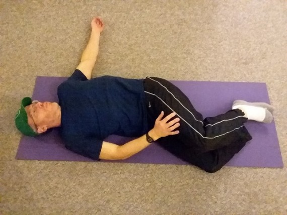 supine twist- back exercise
