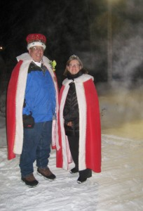 Linda Jackson and Steve Racette presided over the race as the Queen and King of the carnival.