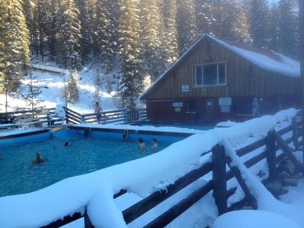 """The hot springs pool for which the """"resort"""" is named."""