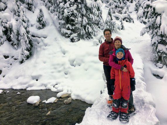 Koob family snowshoeing