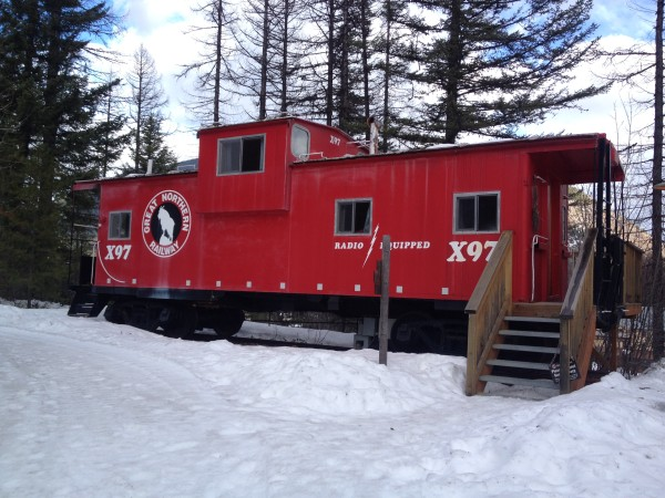 The Red Caboose at the Izaak Walton Inn.