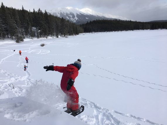 learn to play on snowshoes