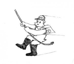 Here is VIC in case you see him on the trails (created by cartoonist, Royal McDonnell)