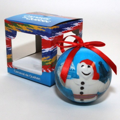 Plan now to decorate the tree with these Christmas ball ornaments of Bonhomme Carnaval!