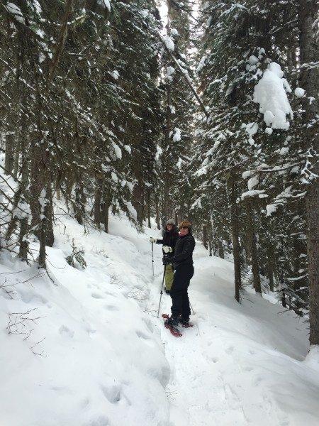 snowshoeing women