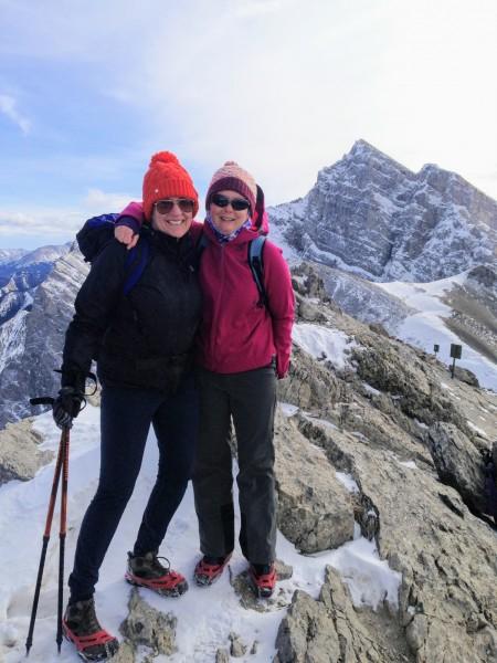 Ha Ling Peak winter hike- Canmore, Alberta