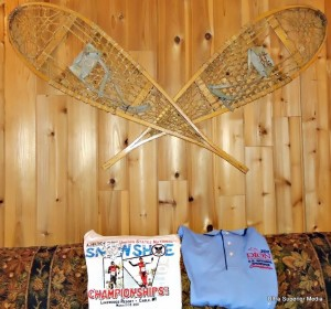 Snowshoes in the rooms at the 2011 Cable WI Dion USSSA National Championships.