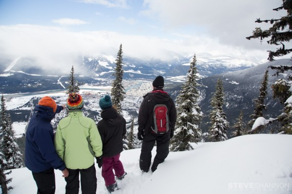 snowshoeing tour at Revelstoke Mountain Resort, British Columbia