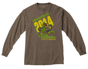 Wear this Go!bbler Race shirt at dinner, impress the guests.