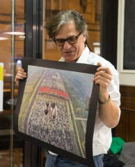 Paul Beer, an artist who was industriously making some fantastic collages in the back of the room during the week.