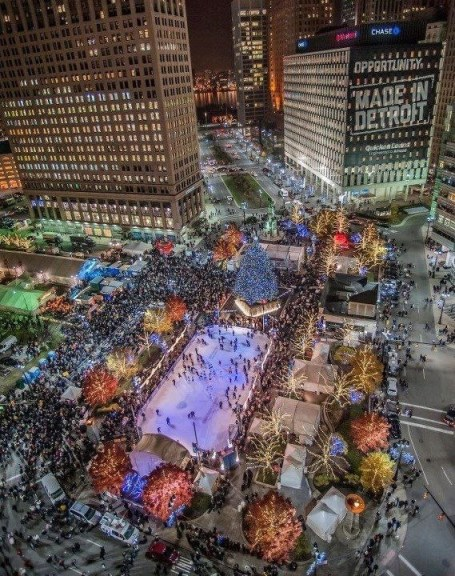 Detroit- Campus Martius- photo courtesy of Ann Delisi's Essentials