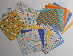 Lots of patterned paper pieces