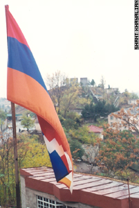 The territory of Lachin joins Armenia and Karabakh.