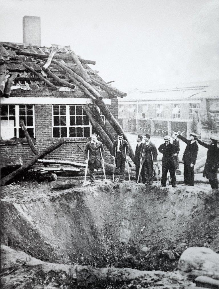 WWII bomb damage at Roehampton