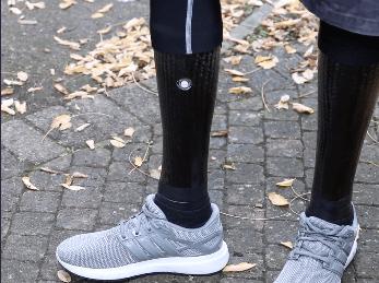 Derek's carbon fibre covered legs