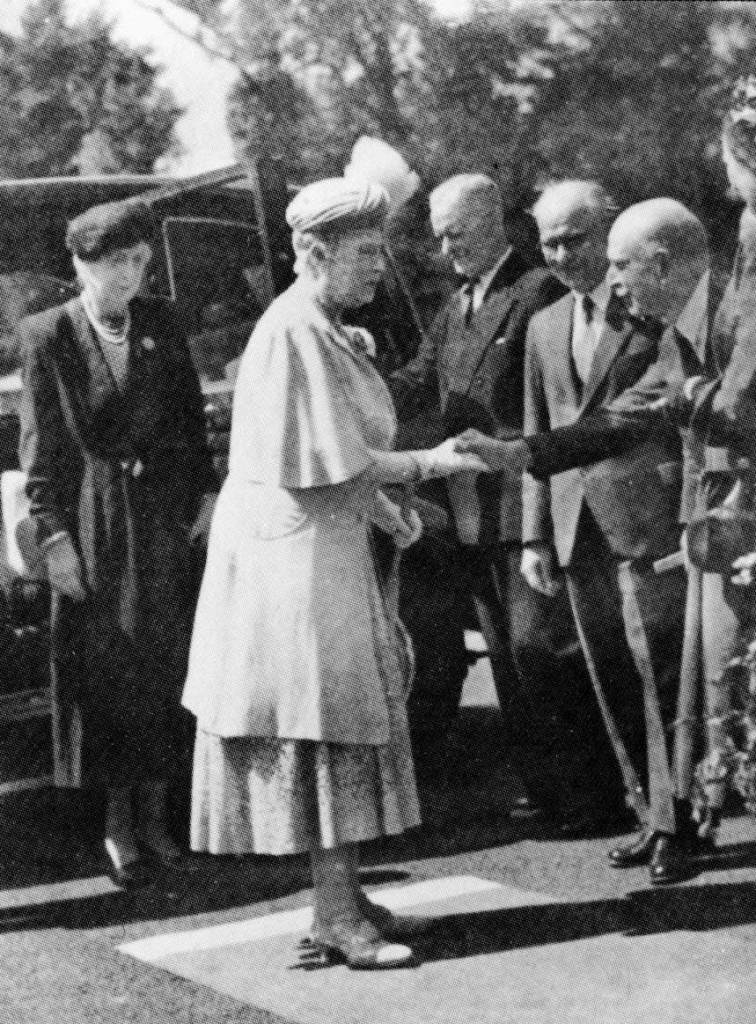 Queen Mary's last visit in 1951