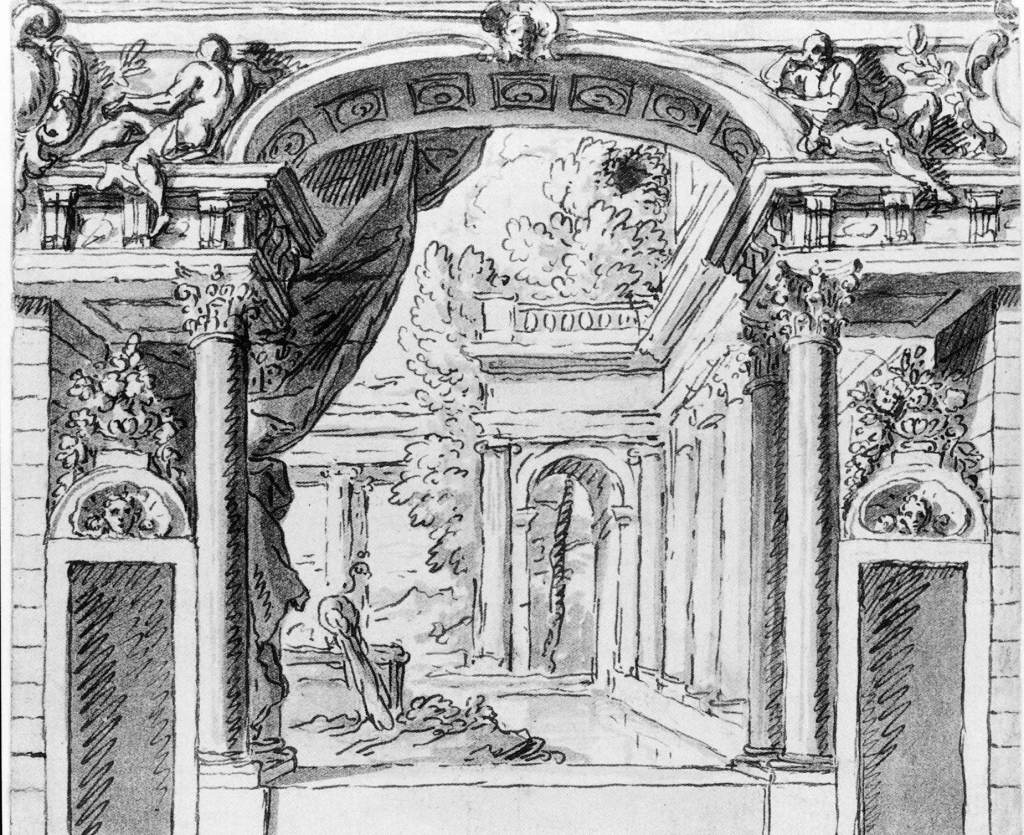 """Sir James Thornhill's illustration for the walls of the """"painted salon"""""""