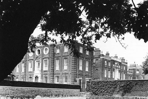 Roehampton House viewed from the lawns
