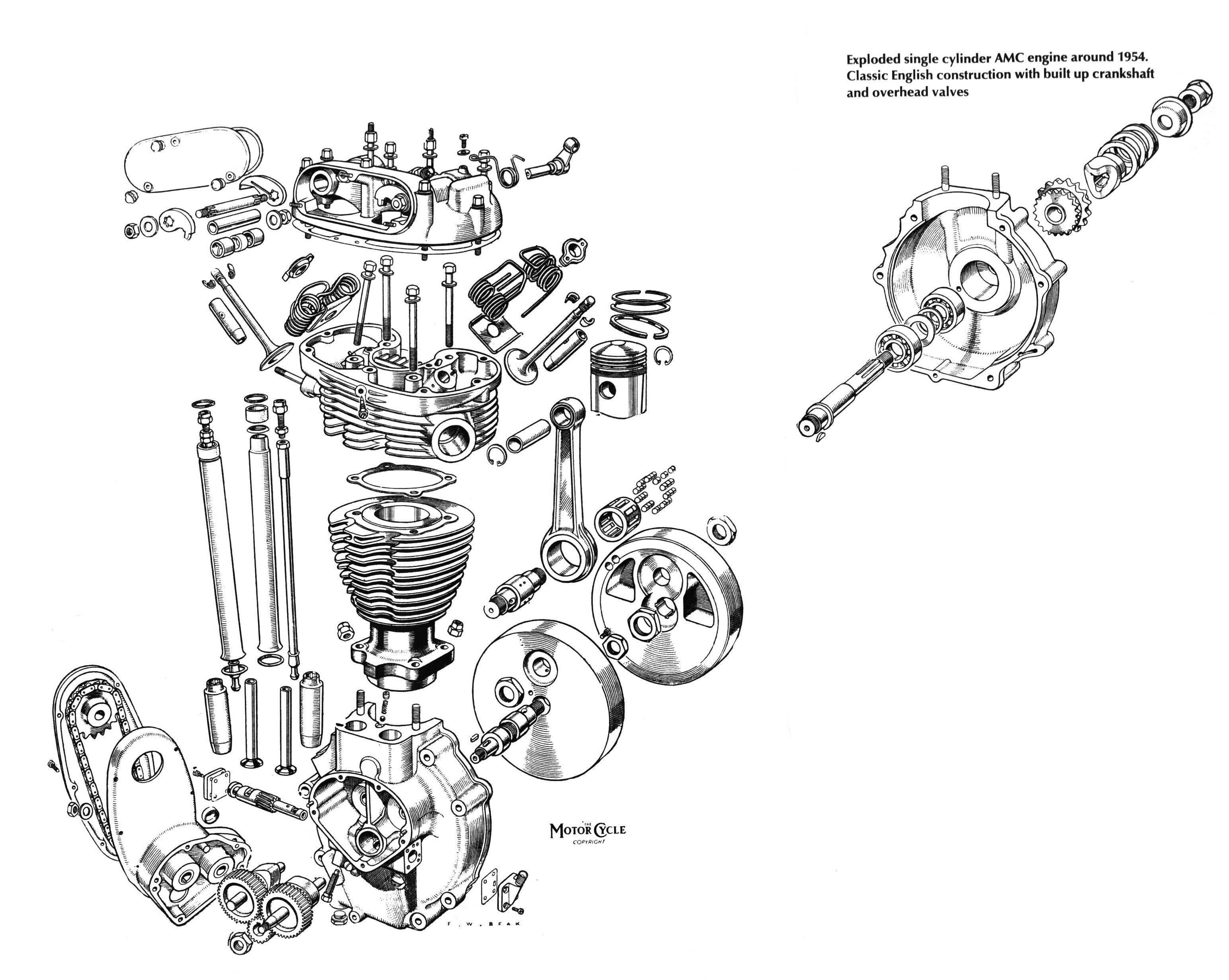 Single Engine Cutaway Drawing