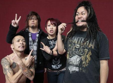 De gauche à droite; Futoshi, Daisuke, Nao, Ryu.