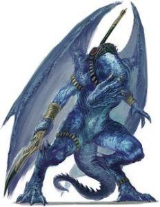 Un dragonkin bleu.