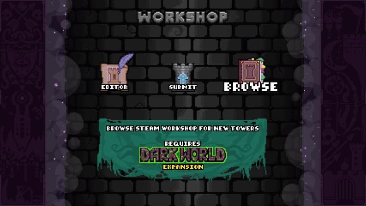 """Le seul point négatif avec le support du Steam Workshop est le fait qu'il nécessite l'achat de l'extension """"Dark World""""."""